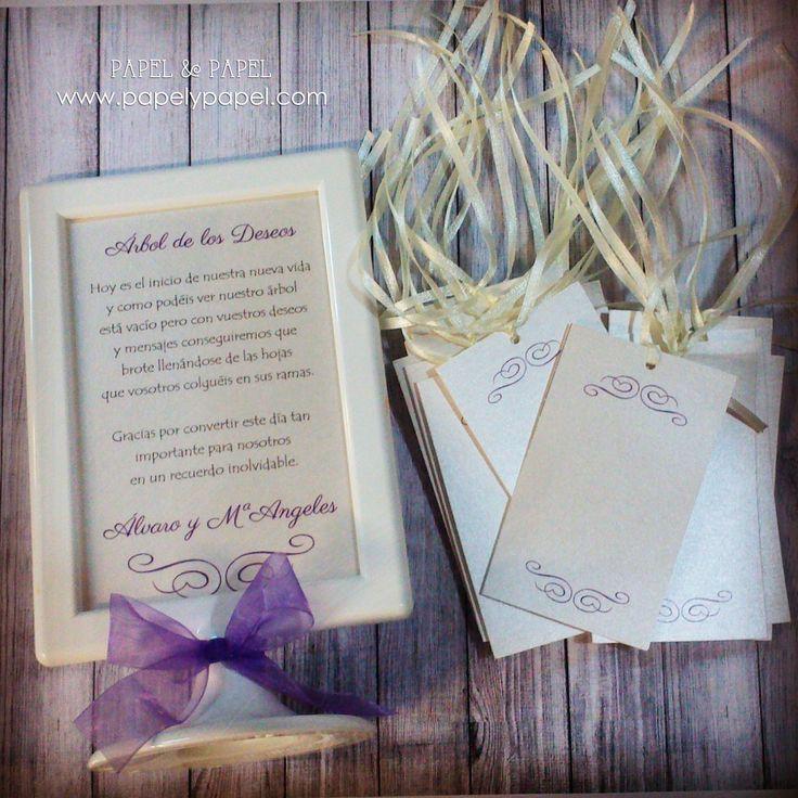 Instrucciones y tarjetas para colgar en el arbol de los deseos para los novios en su nueva vida, Bodas, casaments, nuvis