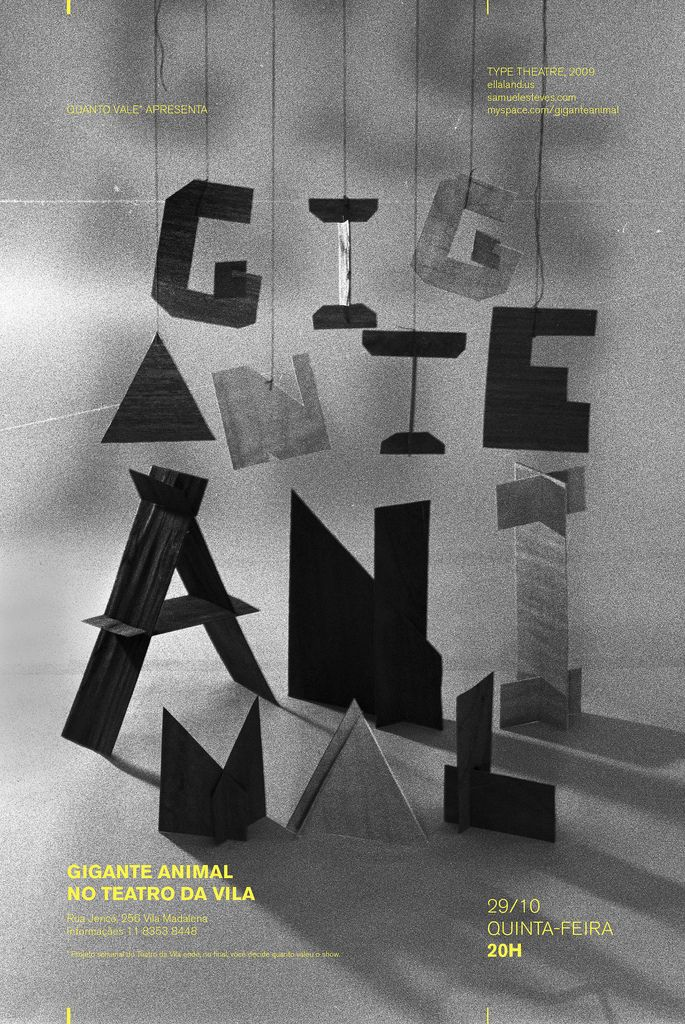 sculpture typography / black & white | typography / graphic design: Daniella Domingues |