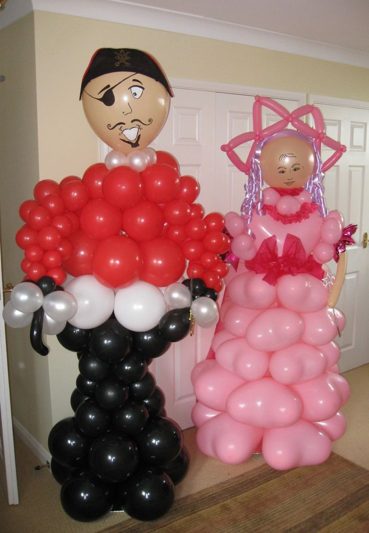 101 best decoration images on pinterest wedding table for Balloon decoration for valentines day