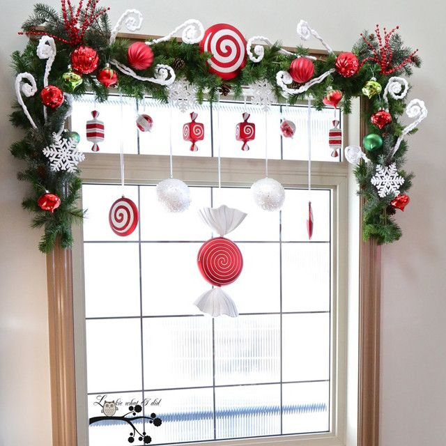 Украшение окна на Новый год из бумаги - фото | Как украсить окна к Новому году - трафареты, роспись окна