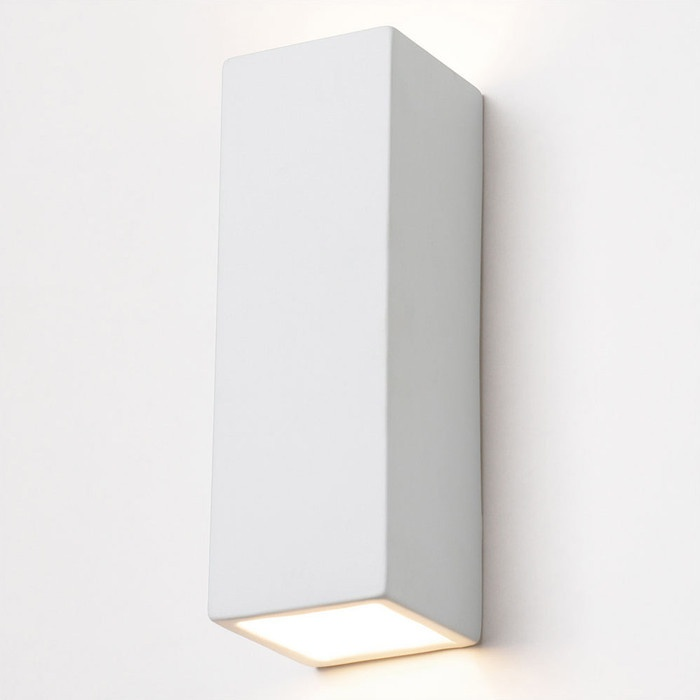 Porcelain Rectangular Vertical Wall Lamp |
