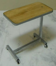 Doll miniature handcrafted Medical bed table 1/12 scale