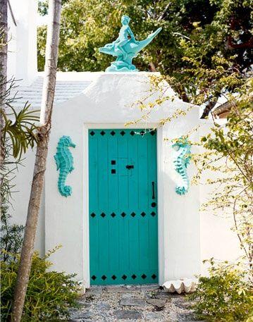Бирюзовые двери - Ярмарка Мастеров - ручная работа, handmade