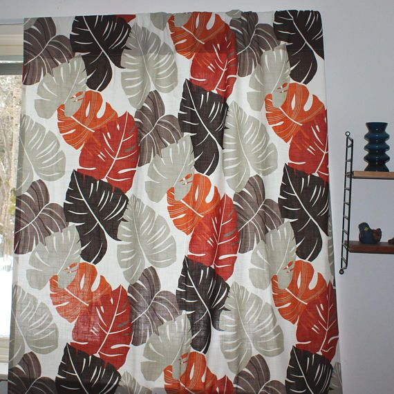 Stunning vintage pair of high quality designer Curtain lengths