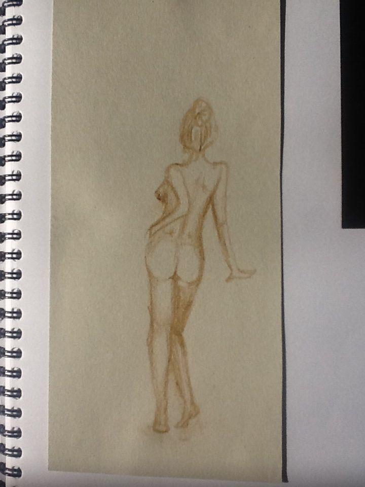 Brown paper and brown pencil