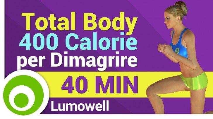 Esercizi Total Body per Bruciare 400 Calorie, Tonificare e Dimagrire  <3