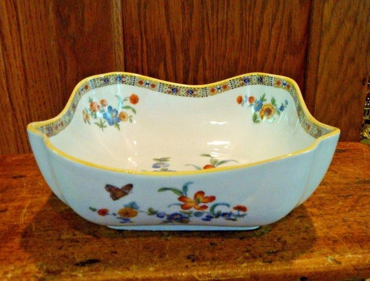 Vtg Epiag D.F. Czechoslovakia Square Serving Bowl Flowers Butterfly #EpiagCzechoslovakia & 186 best Dinnerware and serving pieces images on Pinterest | Cutlery ...