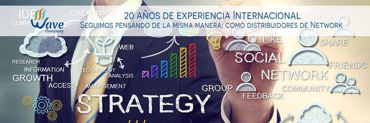 20 años de experiencia Internacional Seguimos pensando de la misma manera: como distribuidores de Network Marketing! http://www.wavecompany.net/es/empresa-mlm/