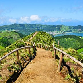 The Azores, Portugal. A small archipelago in the middle of the Atlantic, the Azores boast great weather, delicious food, and a quiet, non-touristy atmosphere. The lush, scenic vistas are out of this world — perfect for relaxing with your new spouse! And best of all, it's really affordable!