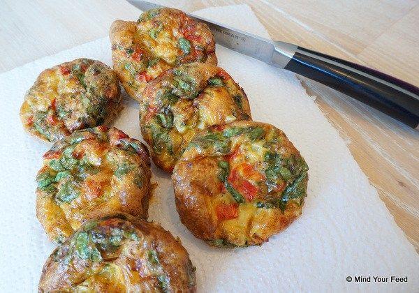 Ei muffins met groenten - Mind Your Feed