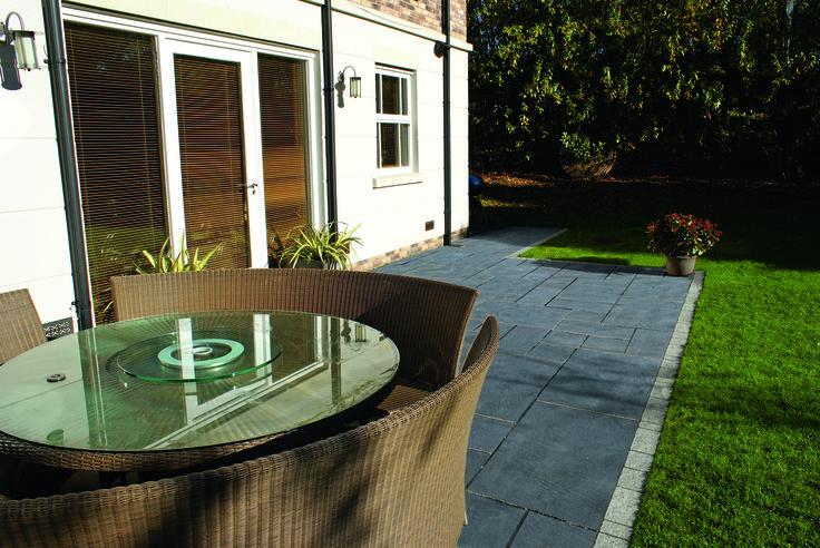 Charcoal Color Pavers #naturalstone #pavers #remodel #construction