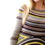 Crazy stripes tee is a seamless pullover worked from the top down in 1 piece.