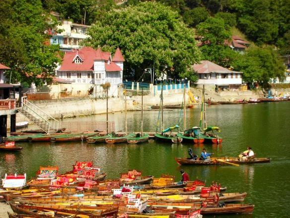 Naini lake boat view of Nainital