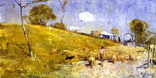 A Dusty Road at Templestowe - Arthur Streeton