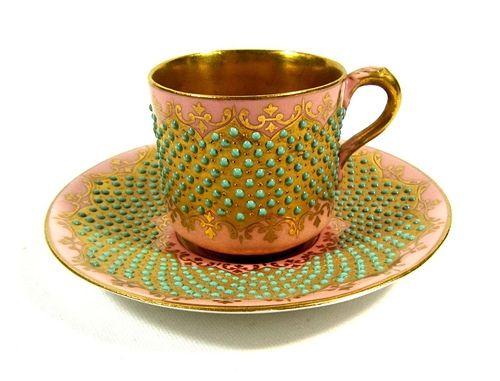 Coalport Jewelled Tea Service for 2 Persons @ 瓷海無涯 :: 隨意窩 Xuite日誌
