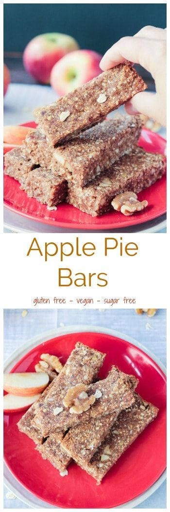 Cane Sugar Free, Vegan, Oil Free | Sugar Free Apple Pie Bars