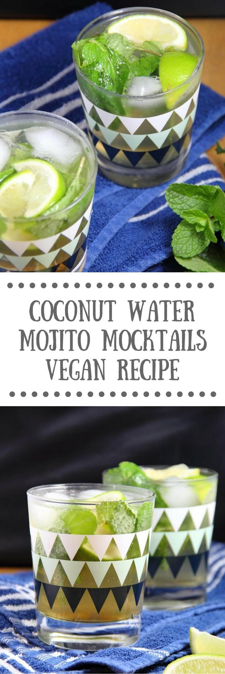 Coconut Water Mojito Mocktail | Healthy, vegan recipe & the perfect summer drink!