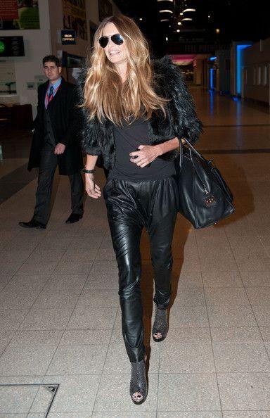 Elle Macpherson's leather harem pants