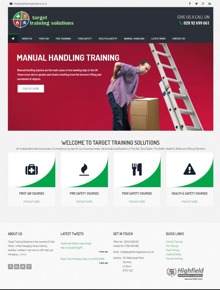 Target Training Solutions - three60design Banbridge Northern Ireland - Web Design