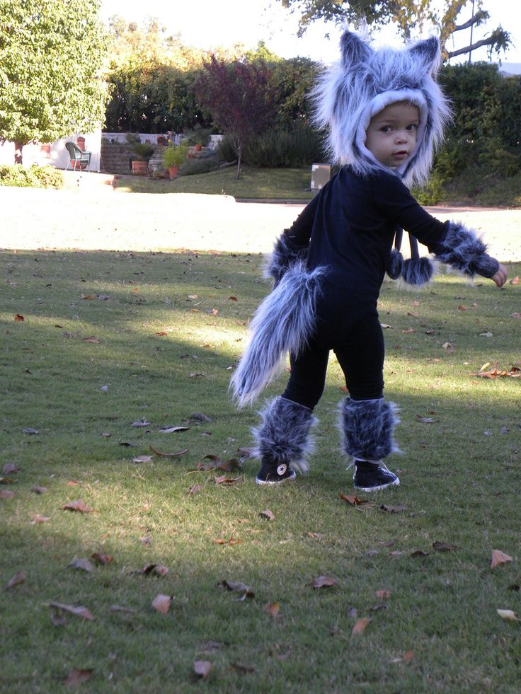 Full wolf custom order for a Halloween costume. Designed to be kid friendly with leg and arm warmers that are easy to take off and on.   Interested in order a custom order of your own? Contact me for more information or questions lollytots.etsy.com