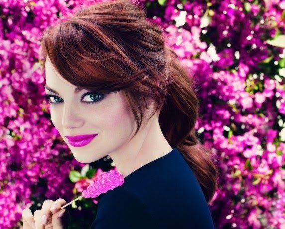 Pantone's 2014 Color of the Year! Radiant Orchid. Emma Stone
