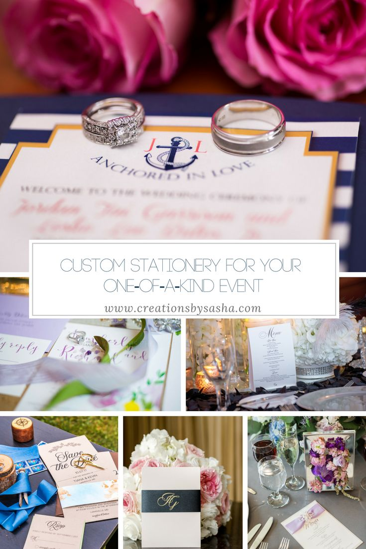 Custom Stationery for Your One-of-A-Kind Event - www.creationsbysasha.com