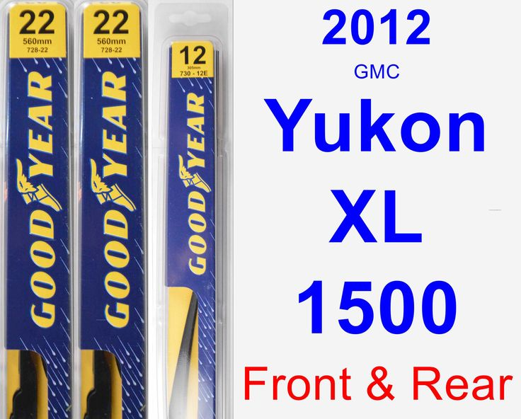 Front & Rear Wiper Blade Pack for 2012 GMC Yukon XL 1500 - Premium