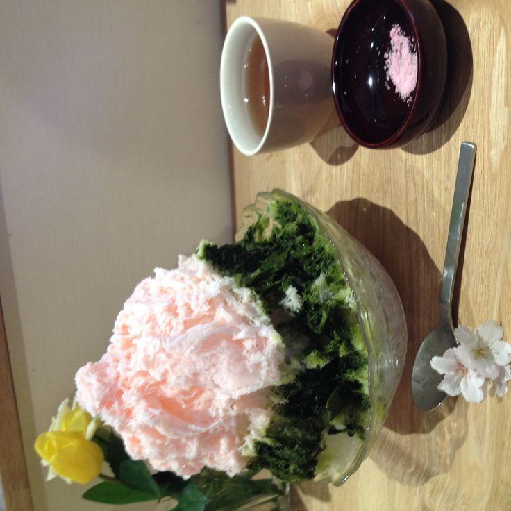 2014かき氷の食べ歩き始めました あざみ野クノップゥ 桜氷