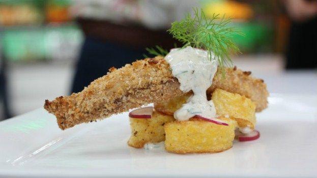 Chef vikki 39 s baked crusted fish with yogurt tartar sauce for Yogurt sauce for fish