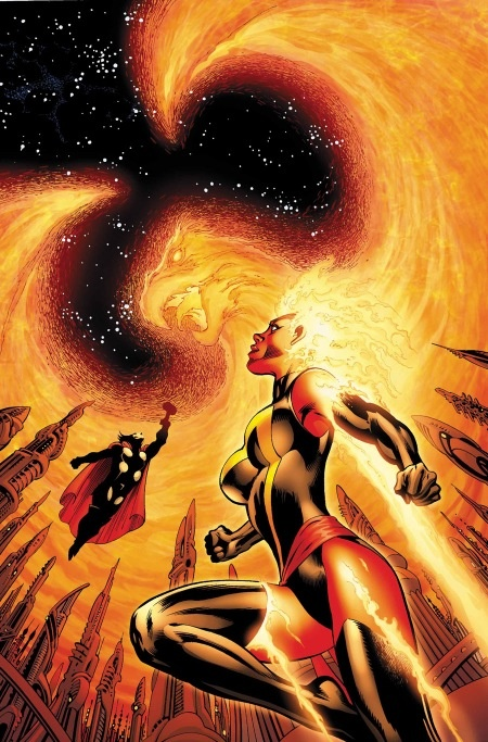 #AvX Thor and Binary taking on the Phoenix Force