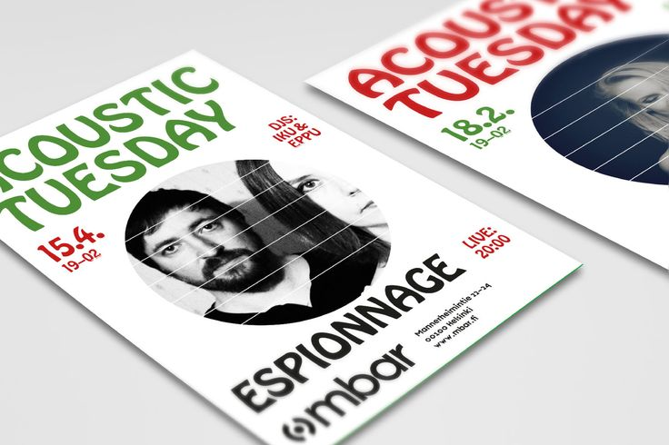 Posters for mbar club by Erik Bertell
