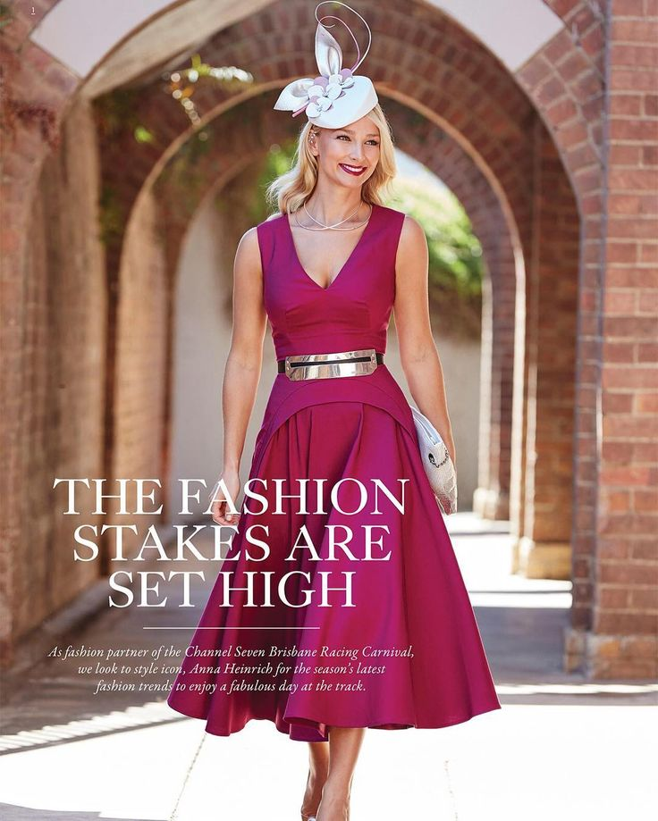 Anna Heinrich.. AURELIO COSTARELLA dress, MIMCO clutch, Nine West heels, and Allport Millinery headpiece..