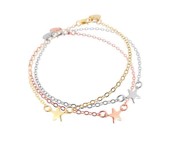 Misuzi - The Stella - Mini Star Bracelet - Gold, Silver, Rose Gold