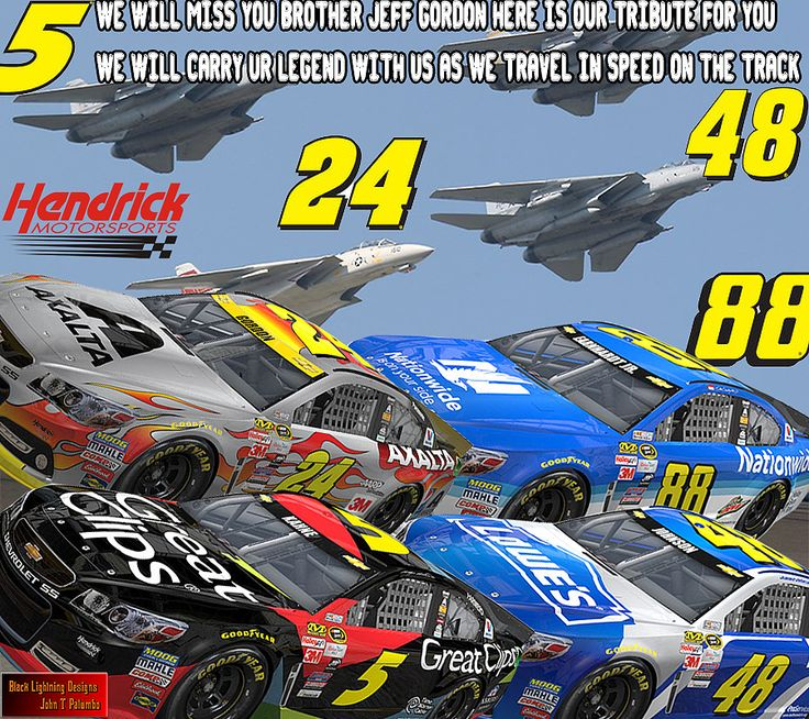 here is my tribute wallpaper i made i had time to do something special ill get back into pic making thursday :) but i had time to make this and wanted to share it hope everyone enjoys new wallpaper and cover photo to use  Black lightning jeff gordon dale earnhardt jr jimmie johnson kasey kayne