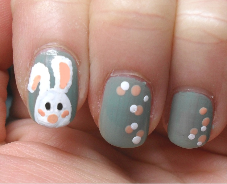 my own bunny nailsBeautiful Department, Nails Design, Beautiful Arabic, Easter Bunnies, Bunny Nails, Bunnies Nails Art, Nails Polish, Easter Bunny, Happy Easter