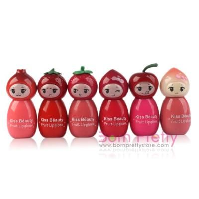 $1.99 Cute Fruit Kiss Beauty Sweet Lip Gloss MakeUp Cosmetic Lip Stick - BornPrettyStore.com
