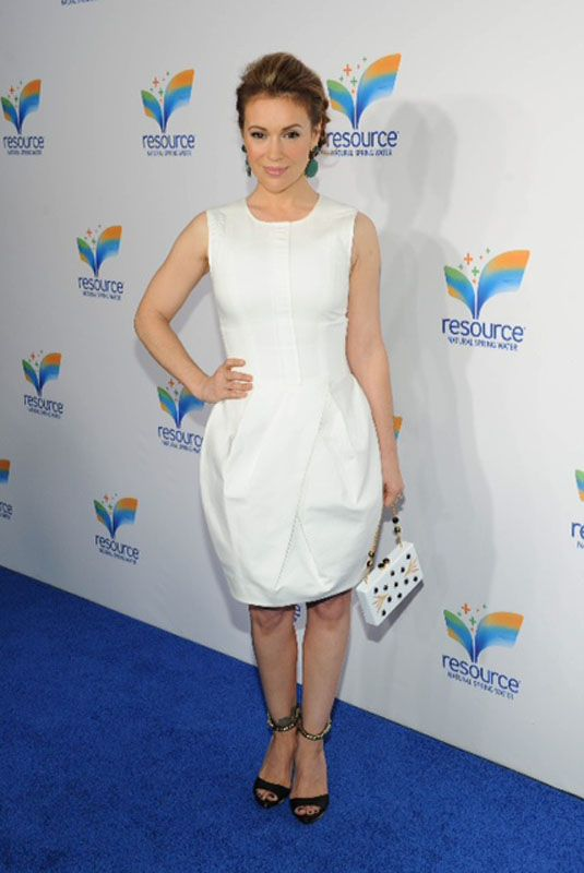 Alyssa Milano styling by @Julie Matos for Cloutier Remix