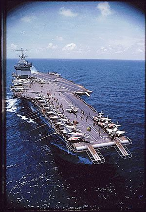 Vietnam War Picture - Nuclear Powered Aircraft Carrier USS Enterprise