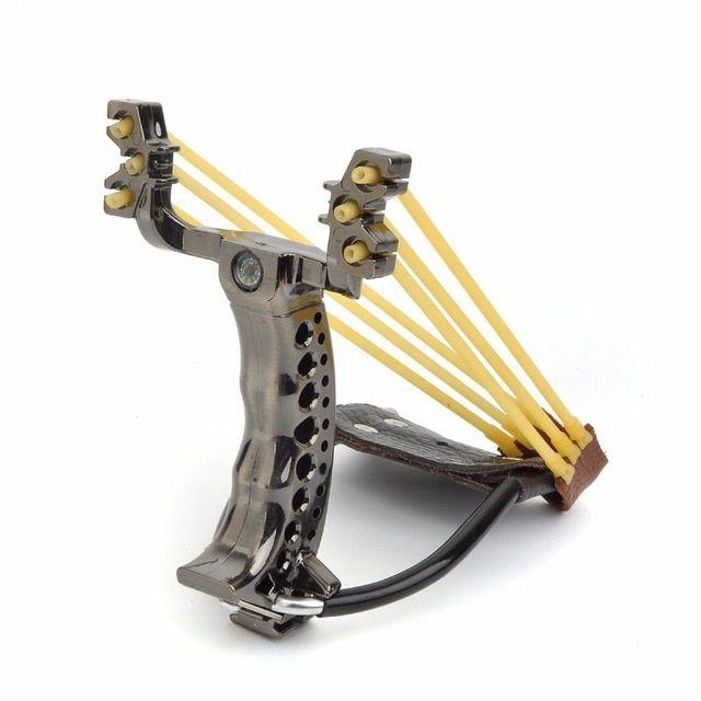 Hunting Stone Spinning Slingshot Outdoor Sport Slingshot//Slingshot with rubber bands