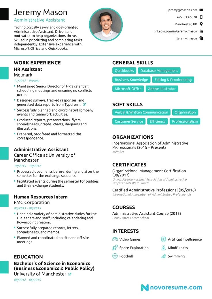 Resume Example Cv Example Professional And Creative Resume Design Cover Letter For Ms Word Administrative Assistant Resume Resume Updating Resume Skills