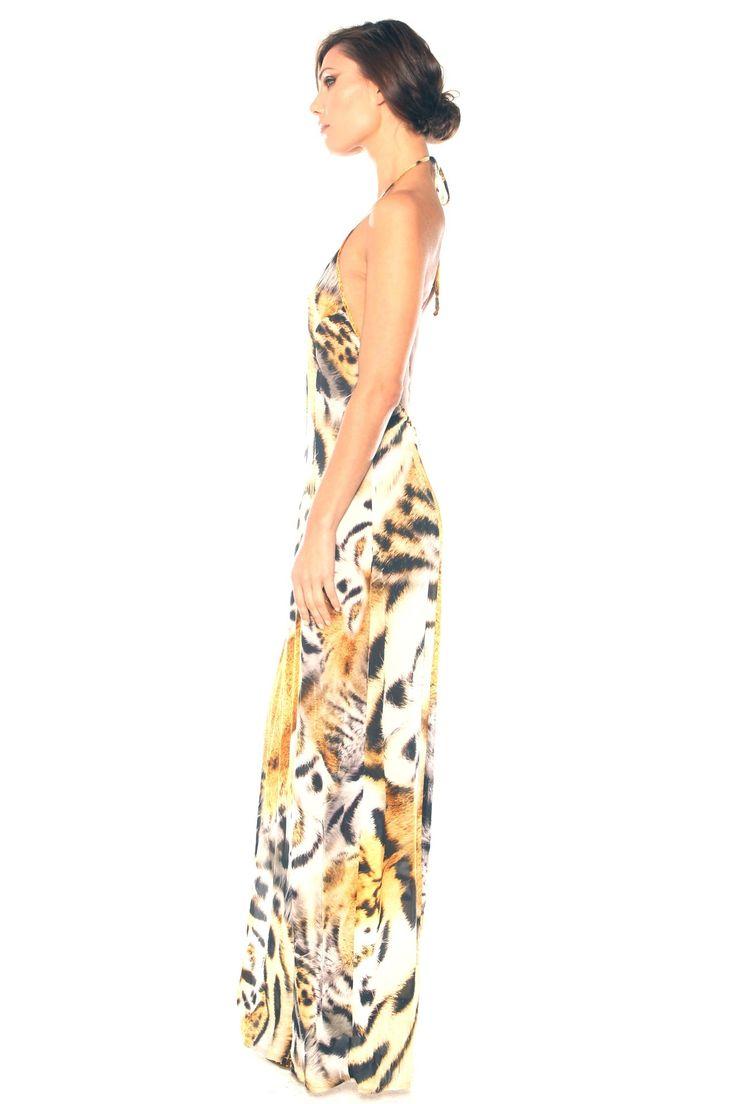 maxi dress age 7 jungle