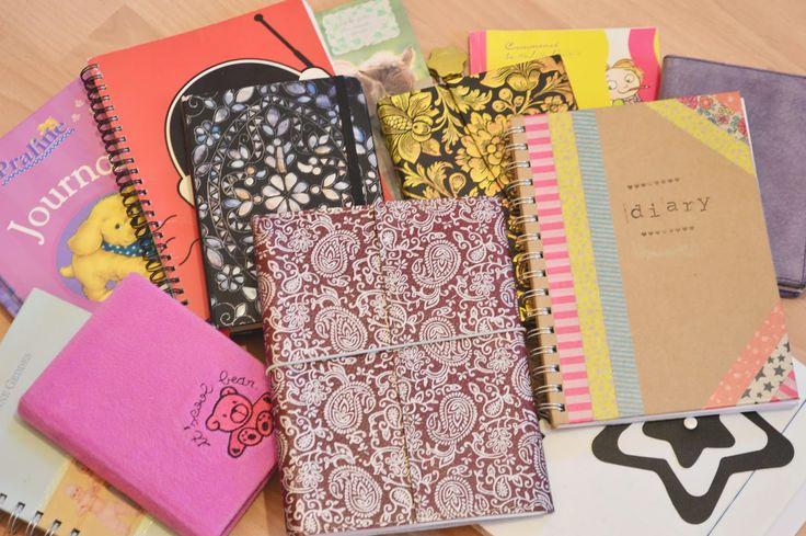 Sur le blog It's Alichon: Tenir un journal intime Notebook,Carnets, Diary