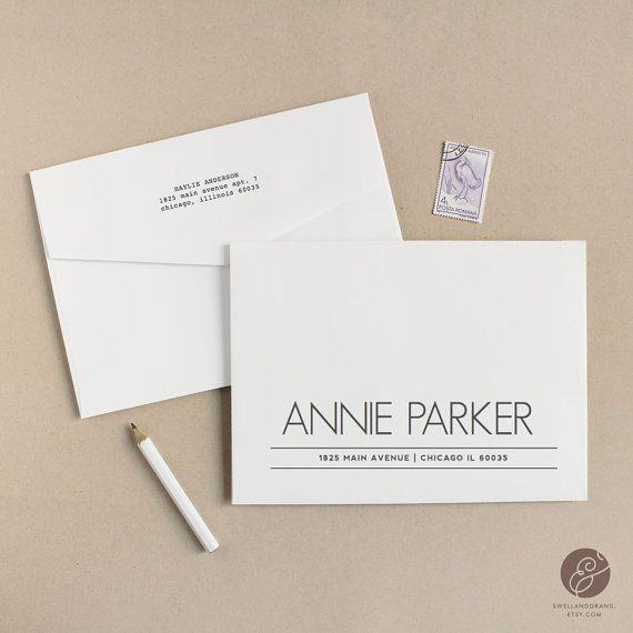 Printable Wedding Envelope Template   INSTANT DOWNLOAD   Parker   Calligraphy Alternative   for Word or Pages Mac & PC