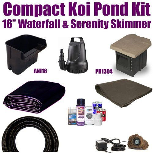 10 x 15 compact pro koi pond kit 2 100 gph pump anjon 16 for Pond filter kits with pump