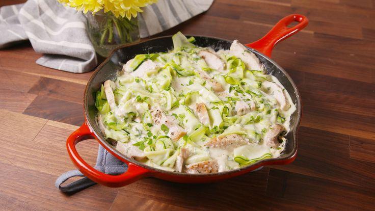 Chicken Zucchini Alfredo - sub H&H for HWC to make it #Keto friendly!