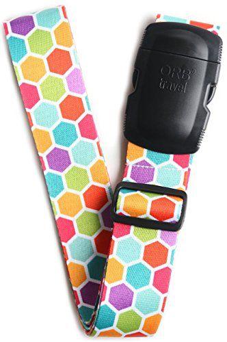 From 6.99 Orb Travel-ls303-multi-colour-honeycomb-premium Designer Luggage Strap 2mx5cm