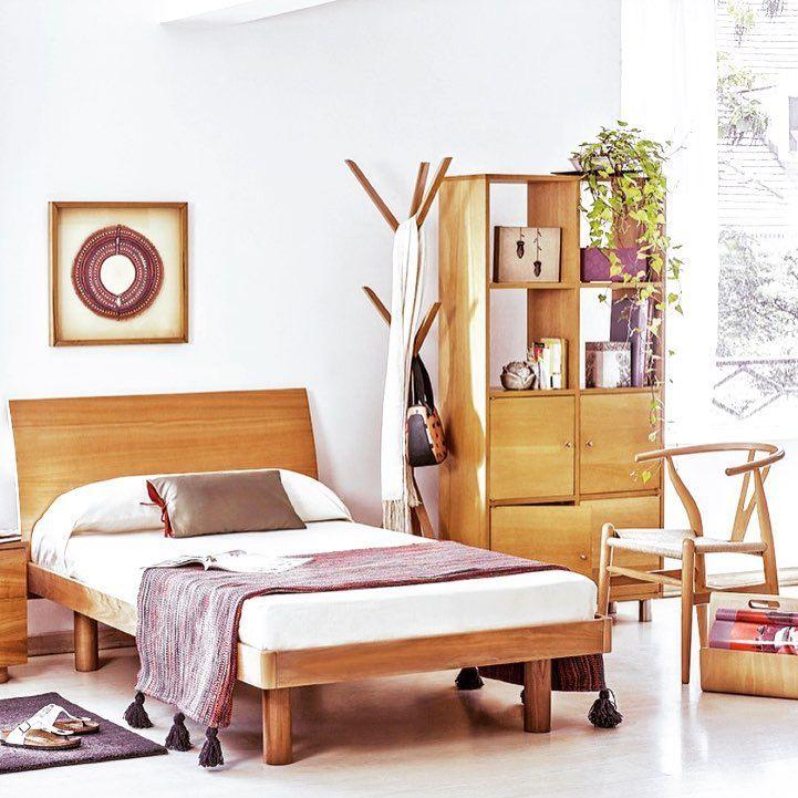 Para #descansar y #dormir #bien en un #ambiente #cálido y #natural. #CamaLaminada #madera #diseño #HechoenChile #diseñoChileno #MueblesSur