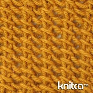 An amazing fully reversible stitch pattern. It has a nice texture, that looks like no other knit stitch. In fact, it doesn't look like knitting at all, and that makes it even more interesting. This stitch will look great on a scarf, cowl, blanket or even a semi-transparent sweater or cardigan.