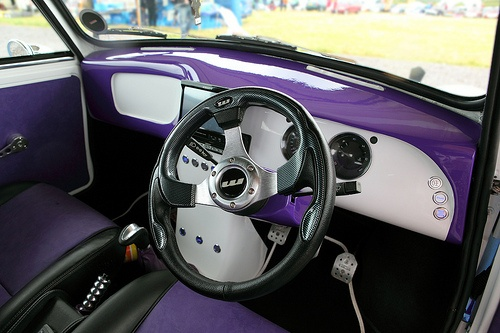 classic mini interior white and purple color me purple pinterest classic mini and cars. Black Bedroom Furniture Sets. Home Design Ideas