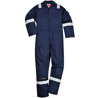 This Portwest Fr21 Super Light Weight Anti-Static Coverall is an EN ISO 11612:2008 compliant garment, providing protection against heat and flame. It also features Knee pad pockets, radio loops, a rule pocket, plus sleeve and back pockets with stud flap closure. Available in Navy and also Orange.